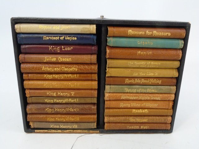 24 Miniature Leather Bound Books by Shakespeare