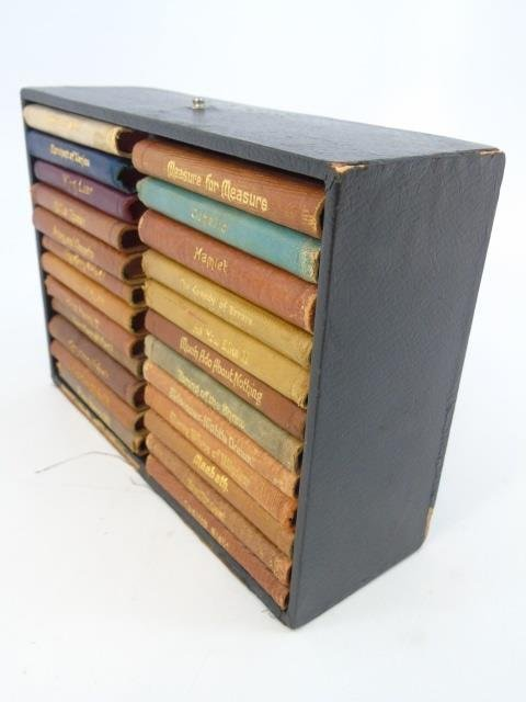 24 Miniature Leather Bound Books by Shakespeare - 3