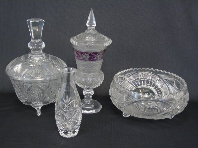 Antique Group Lot of Cut Glass & Crystal Pieces