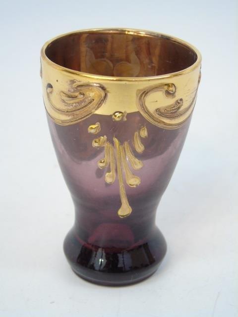 Venetian Style Gold Enamel Glass Set - 2