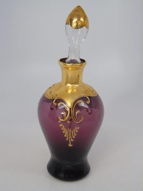 Venetian Style Gold Enamel Glass Set - 4