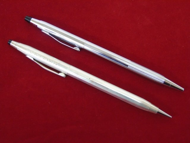 Set of Vintage Sterling Silver Cross Pens - 4