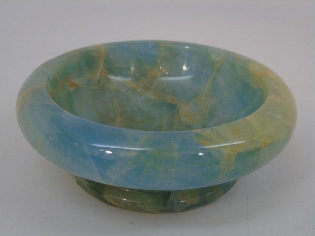 Italian Carved Onyx Bowl & Ashtray Ormolu - 2
