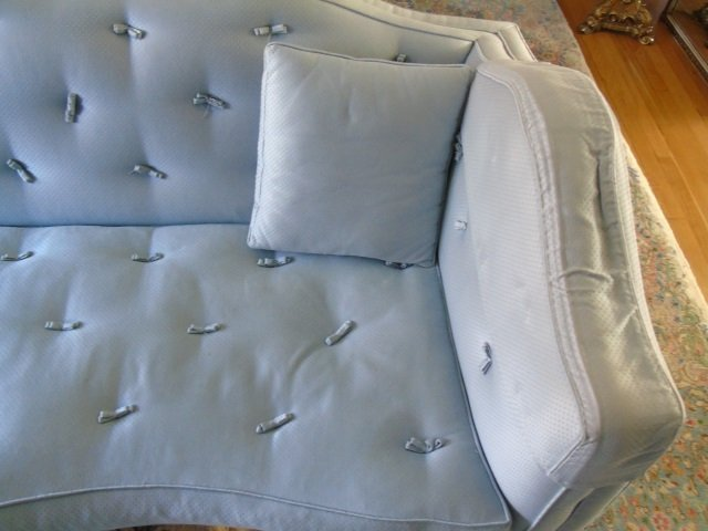 Mid Century Custom Made Arched Back Tufted Sofa - 3