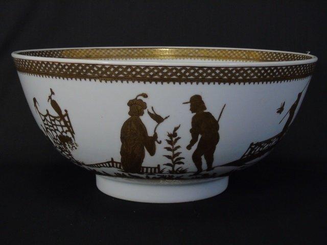 Chinese White & Gold Porcelain Large Bowl & Box - 5