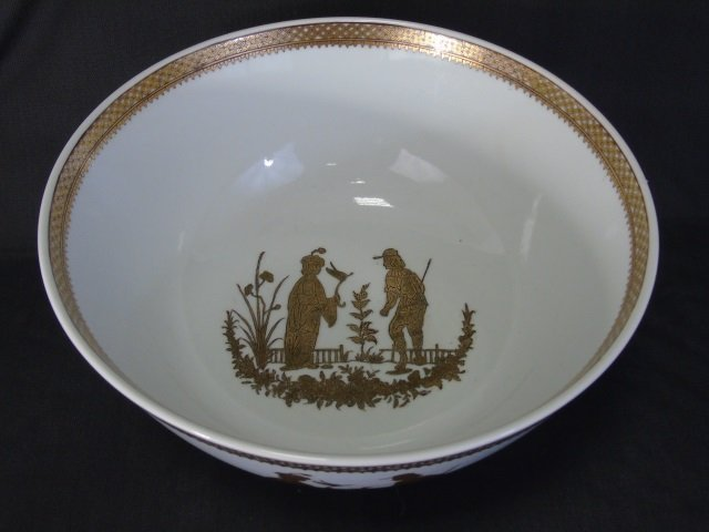 Chinese White & Gold Porcelain Large Bowl & Box - 6