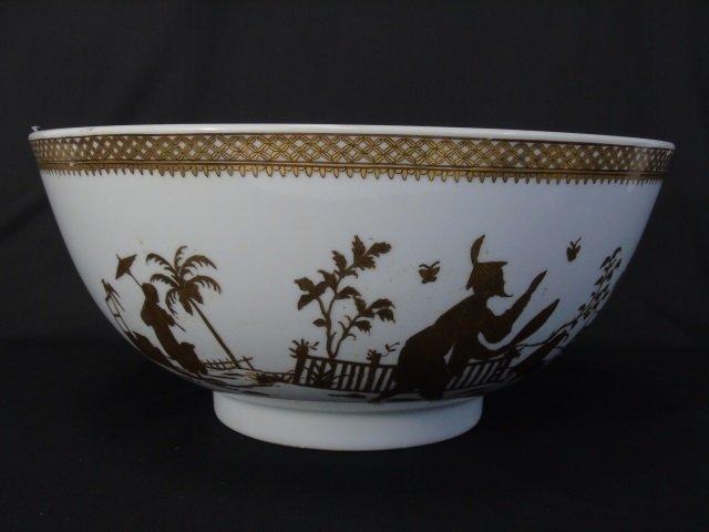 Chinese White & Gold Porcelain Large Bowl & Box - 7