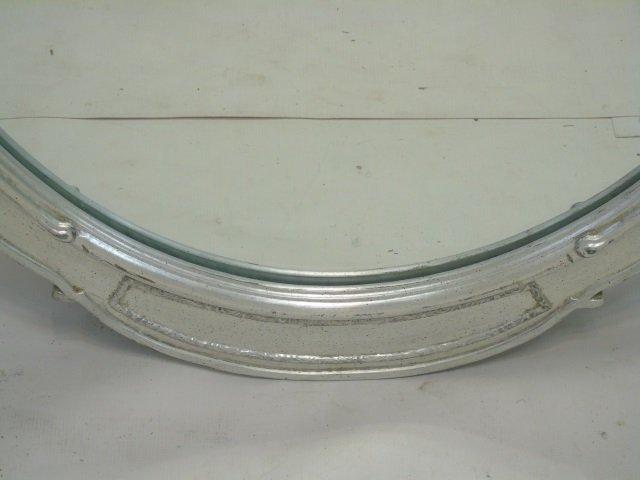 Pair Custom Made Silver Leaf Art Deco Style Mirror - 3