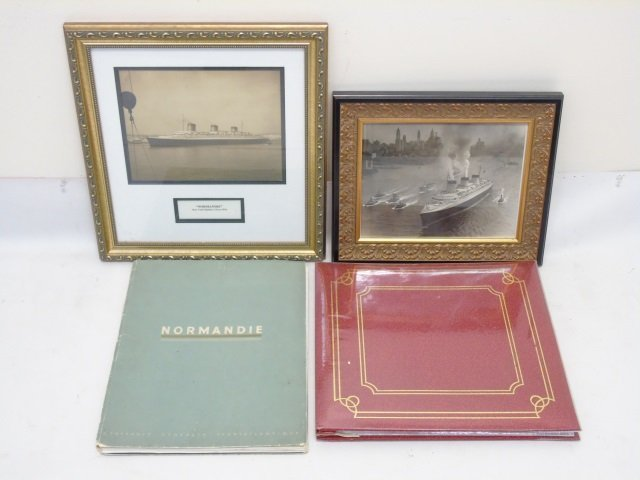 Group of SS Normandie Related Souvenir Items Photo