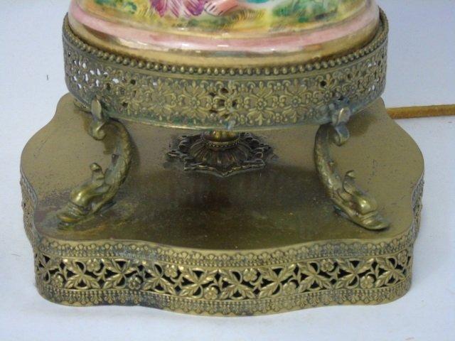 Pair Vintage Italian Capodimonte Table Lamps - 4