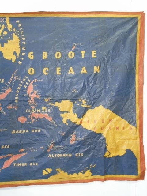 Large Vintage Fabric Printed Map of Indonesia - 2