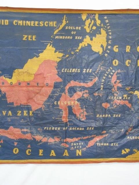 Large Vintage Fabric Printed Map of Indonesia - 4