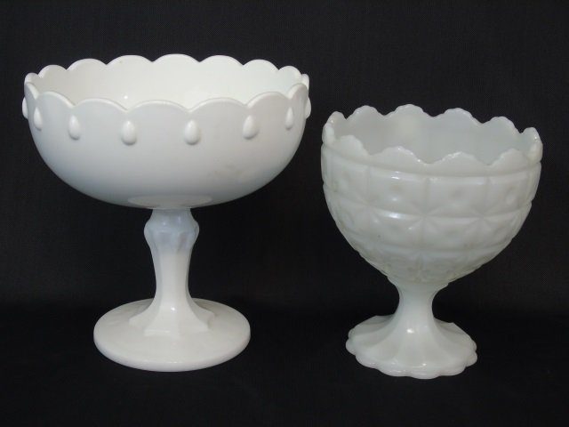 Large Group Milk Glass, Serving & Table Items - 2