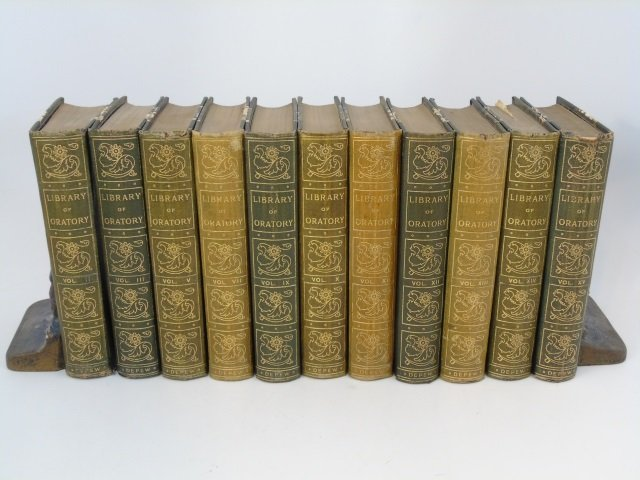Antique Book Collection Library of Ancient Oratory
