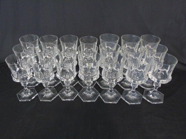 Group of 21 Cut Glass Wine Goblets Villaroy & Boch