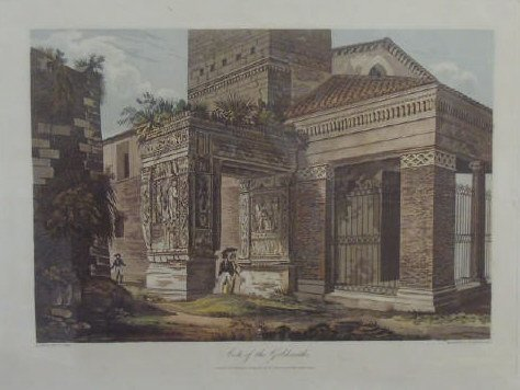 Antique Arch of the Goldsmiths Engraving c 1820 - 4