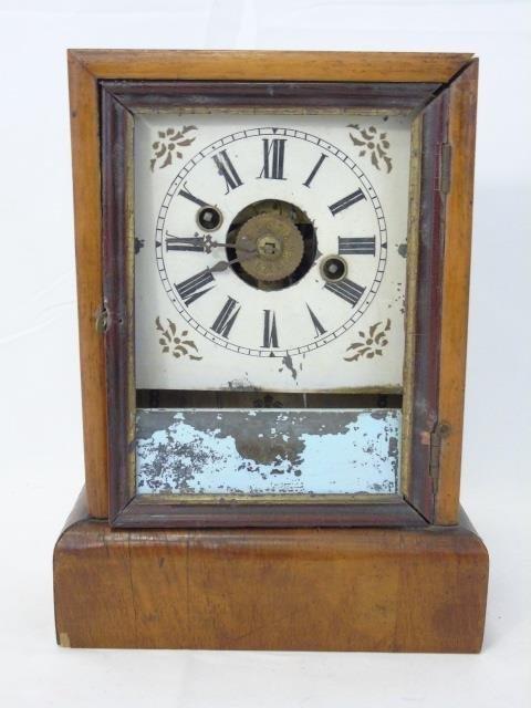 Three Antique Clocks Steeple, Porcelain & Congress - 3