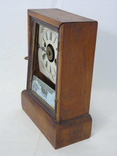 Three Antique Clocks Steeple, Porcelain & Congress - 4