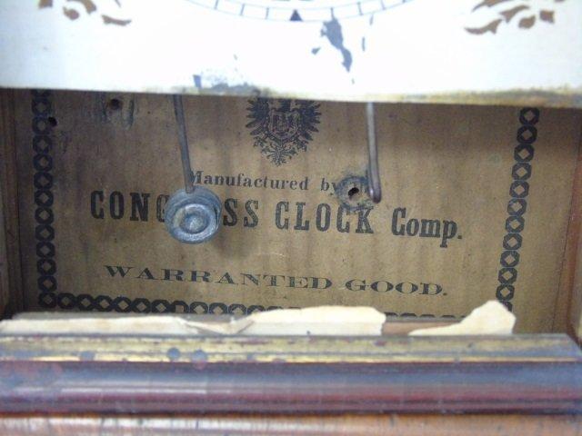 Three Antique Clocks Steeple, Porcelain & Congress - 5