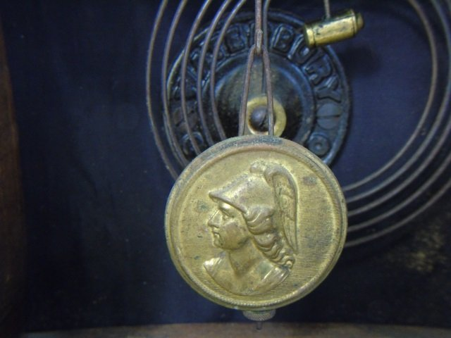 Three Antique Clocks Steeple, Porcelain & Congress - 8