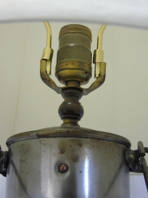 Vintage Iron and Glass Cage Nautical Lantern Lamp - 3