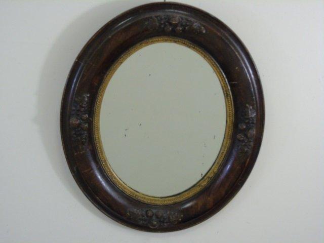 Antique Pair Victorian Wooden Oval Mirror Frames - 2