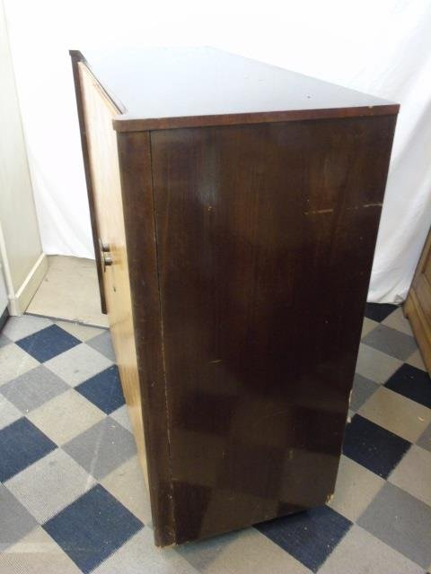 Antique Art Deco Two Tone Wood Armoire Cabinet - 5