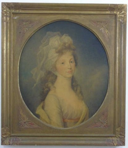 Antique Print of a Regency Era Lady of Style