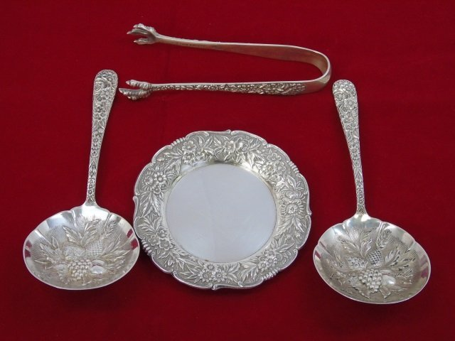 Group of Rare S Kirk & Son Repousse Sterling Items
