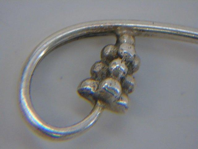 Pair Georg Jensen Sterling Silver Figural Spoons - 2