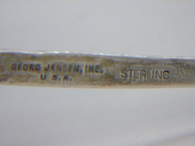 Pair Georg Jensen Sterling Silver Figural Spoons - 3