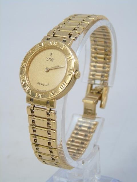 Estate 18kt Yellow Gold Corum Swiss Made Watch