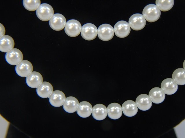 Multi Strand Pearl & Tibetan Style Silver Necklace - 3
