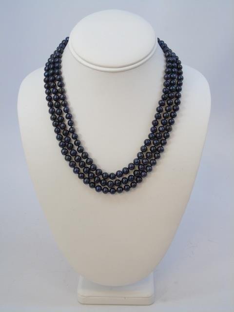 Tahitian Black Baroque Pearl Necklace Bracelet Set - 3