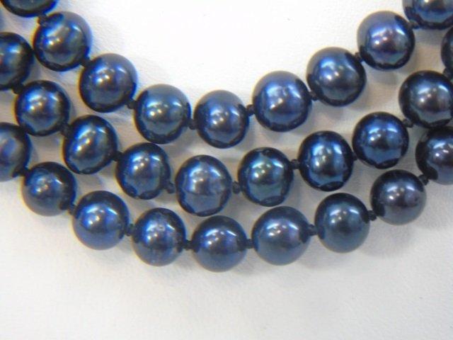 Tahitian Black Baroque Pearl Necklace Bracelet Set - 4
