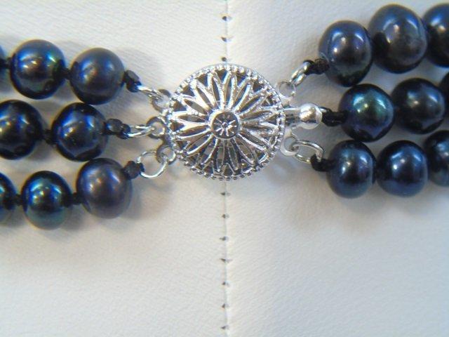 Tahitian Black Baroque Pearl Necklace Bracelet Set - 5