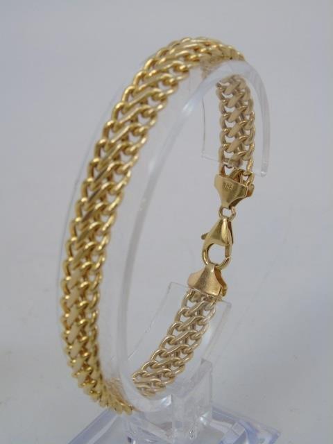 Estate 14kt Yellow Gold Italian Link Bracelet