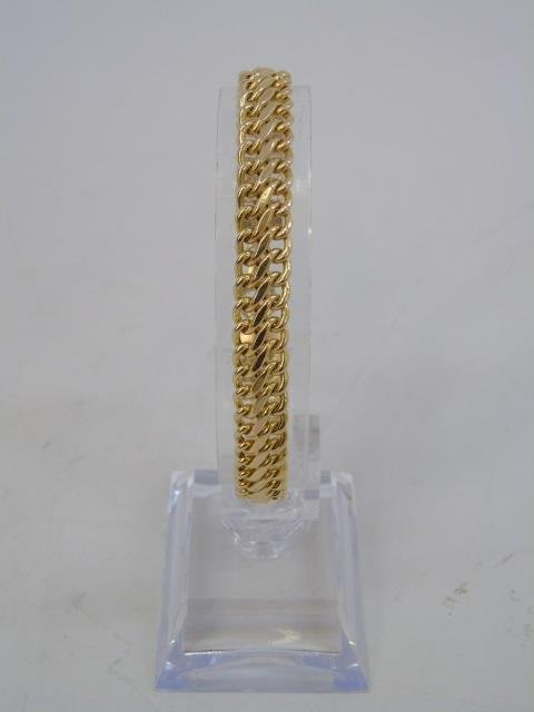 Estate 14kt Yellow Gold Italian Link Bracelet - 3