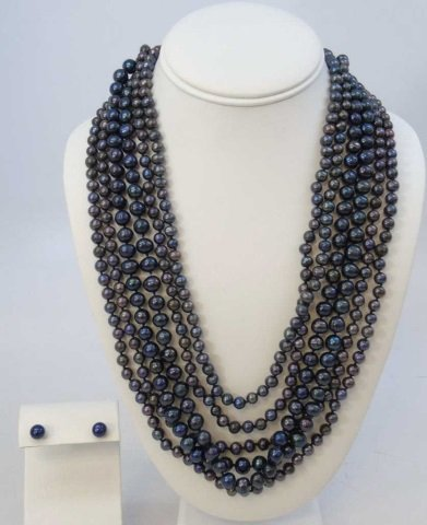 50 Inch Triple Strand Tahitian Pearl Necklace
