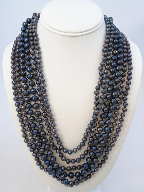 50 Inch Triple Strand Tahitian Pearl Necklace - 2