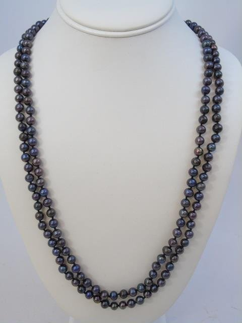 50 Inch Triple Strand Tahitian Pearl Necklace - 3