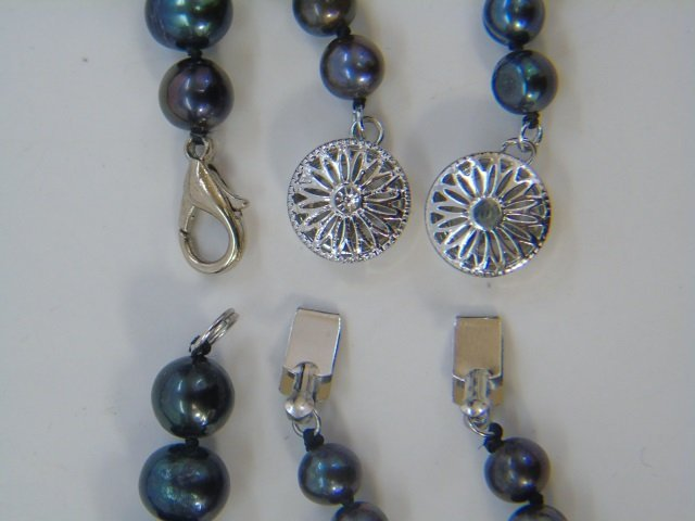 50 Inch Triple Strand Tahitian Pearl Necklace - 5