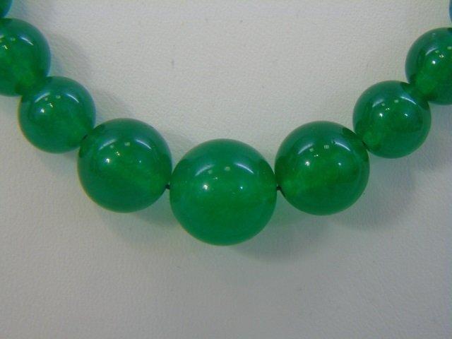 Three Graduated Bead Jade Necklaces & Studs - 5