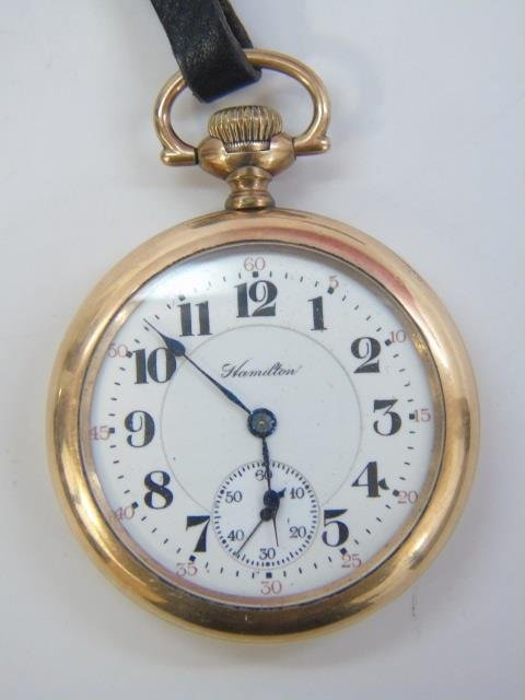 Vintage Hamilton Yellow Gold Men's Pocket Watch