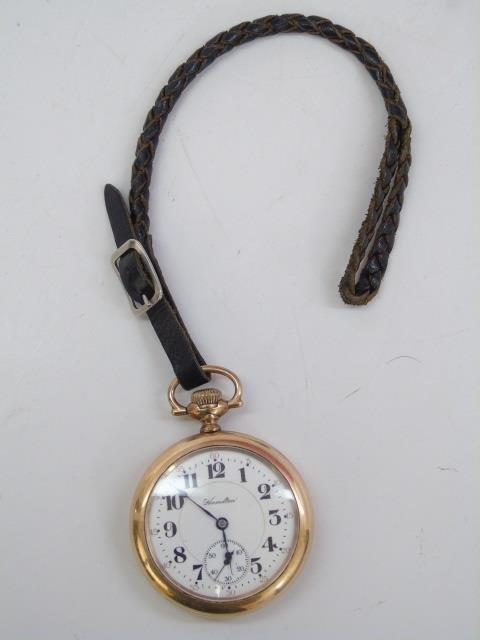 Vintage Hamilton Yellow Gold Men's Pocket Watch - 3