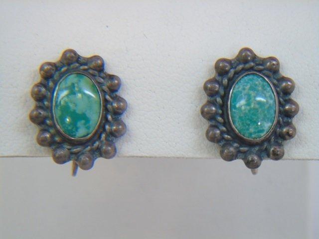 Vintage Native American Silver Earrings & Cuff - 3