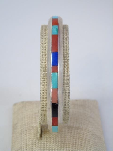 Vintage Native American Silver Earrings & Cuff - 4
