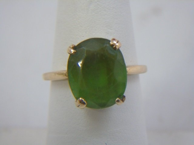 Estate 14kt Yellow Gold & Peridot Cocktail Ring