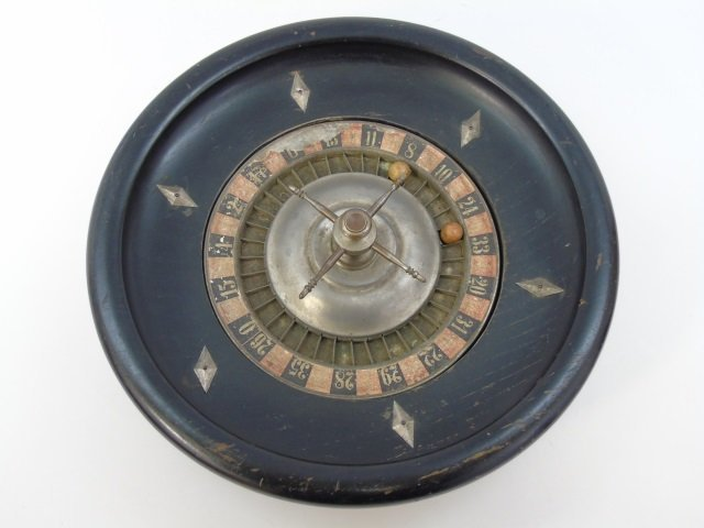 Antique 19th C Gambling / Roulette Game Wheel