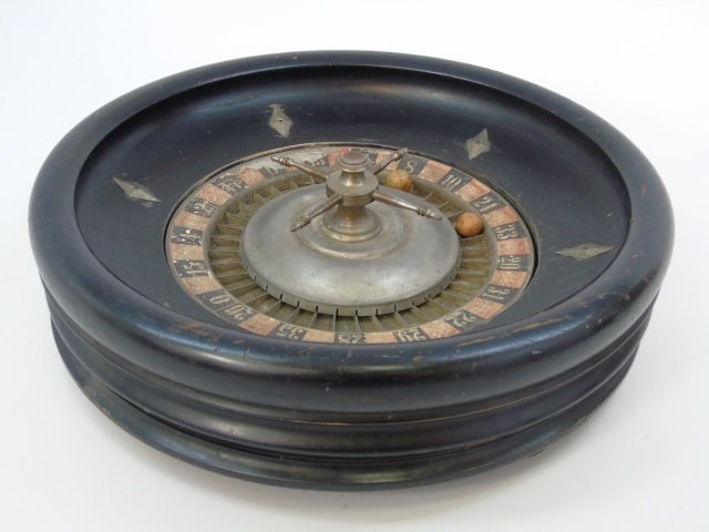Antique 19th C Gambling / Roulette Game Wheel - 3